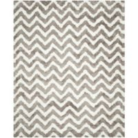 Safavieh Barcelona 8-Foot x 10-Foot Shag Rug in Ivory/Silver