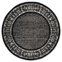 Safavieh Adirondack 4-Foot Round Area Rug in Black