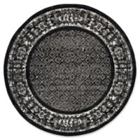 Safavieh Adirondack 6-Foot Round Area Rug in Black