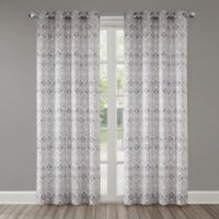 Echo Triana 108-Inch Grommet Top Window Curtain Panel in Grey