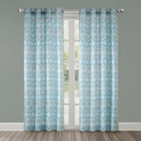 Echo Triana 84-Inch Grommet Top Window Curtain Panel in Green