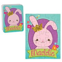 Bunny Puzzle and Tin in Purple