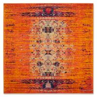 Safavieh Monaco Timeo 5-Foot Square Area Rug in Orange Multi