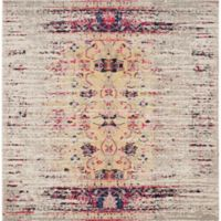 Safavieh Monaco Timeo 5-Foot Square Area Rug in Ivory/Pink