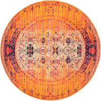 Safavieh Monaco Timeo 5-Foot Round Area Rug in Orange Multi