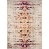 Safavieh Monaco Timeo 6-Foot 7-Inch x 9-Foot 2-Inch Area Rug in Ivory/Pink