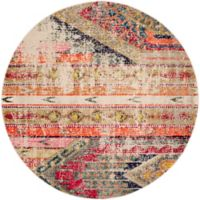 Safavieh Monaco Nayva 5-Foot Round Area Rug in Light Grey