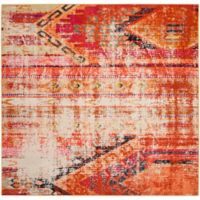 Safavieh Monaco Nayva 5-Foot Square Area Rug in Orange