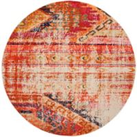 Safavieh Monaco Nayva 6-Foot 7-Inch Round Area Rug in Orange