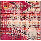 Safavieh Monaco Nayva 6-Foot 7-Inch Square Area Rug in Magenta