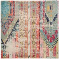 Safavieh Monaco Nayva 6-Foot 7-Inch Square Multicolor Area Rug