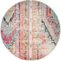 Safavieh Monaco Nayva 9-Foot Round Multicolor Area Rug
