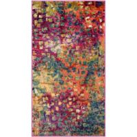 Safavieh Monaco Watercolor 2-Foot 2-Inch x 4-Foot Accent Rug in Pink