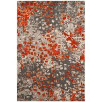 Safavieh Monaco Watercolor 3-Foot x 5-Foot Area Rug in Grey/Orange
