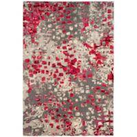 Safavieh Monaco Watercolor 3-Foot x 5-Foot Area Rug in Grey/Fuchsia