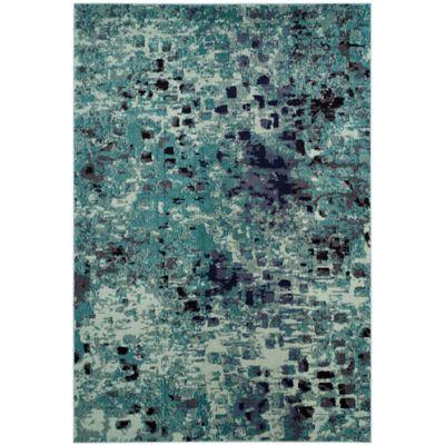 safavieh monaco watercolor 8foot x 11foot area rug in light blue