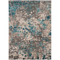 Safavieh Monaco Watercolor 9-Foot x 12-Foot Area Rug in Grey/Light Blue