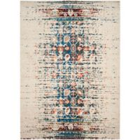 Safavieh Monaco Abstract 3-Foot x 5-Foot Area Rug in Ivory/Blue