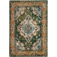 Safavieh Monaco Vintage Bohemian 2-Foot 2-Inch x 4-Foot Accent Rug in Green/Light Blue