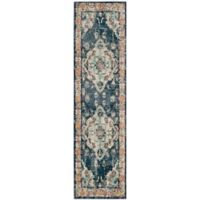 Safavieh Monaco Vintage Bohemian 2-Foot 2-Inch x 8-Foot Runner in Navy/Light Blue