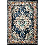 Safavieh Monaco Vintage Bohemian 4' x 5'7 Area Rug in Navy/Light Blue