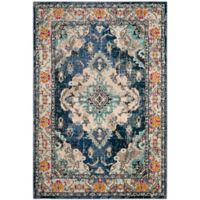 Safavieh Monaco Vintage Bohemian 4-Foot x 5-Foot 7-Inch Area Rug in Navy/Light Blue