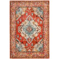 Safavieh Monaco Vintage Bohemian 4-Foot x 5-Foot 7-Inch Area Rug in Orange/Light Blue