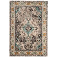 Safavieh Monaco Vintage Bohemian 4-Foot x 5-Foot 7-Inch Area Rug in Grey/Light Blue