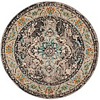 Safavieh Monaco Vintage Bohemian 6-Foot 6-Inch Round Area Rug in Grey/Light Blue