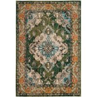 Safavieh Monaco Vintage Bohemian 8-Foot x 10-Foot Area Rug in Green/Light Blue