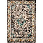 Safavieh Monaco Vintage Bohemian 9-Foot x 12-Foot Area Rug in Grey/Light Blue