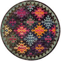 Safavieh Monaco Patchwork 6-Foot 7-Inch Round Multicolor Area Rug