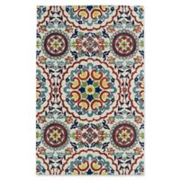 Kaleen Global Inspirations Center Medallion 9-Foot x 12-Foot Area Rug in Ivory