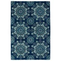 Kaleen Global Inspirations Summer Sky 2-Foot x 3-Foot Accent Rug in Navy