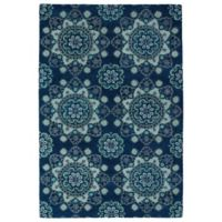 Kaleen Global Inspirations Summer Sky 9-Foot x 12-Foot Area Rug in Navy