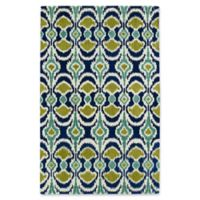 Kaleen Global Inspirations Leon Ikat 9-Foot x 12-Foot Area Rug in Blue