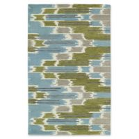 Kaleen Global Inspirations Watercolor Ikat 9-Foot x 12-Foot Area Rug in Wasabi