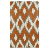 Kaleen Global Inspirations Ikat 9-Foot x 12-Foot Area Rug in Paprika