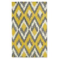 Kaleen Global Inspirations Ikat 9-Foot x 12-Foot Area Rug in Yellow