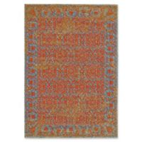Feizy Cassia Floral Border 2-Foot 10-Inch x 7-Foot 10-Inch Runner in Cantaloupe Orange
