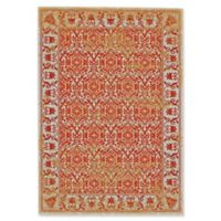 Feizy Cassia Floral Border 2-Foot 10-Inch x 7-Foot 10-Inch Runner in Melon Orange