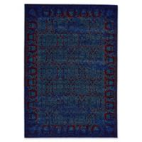 Feizy Cassia Floral Border 8-Foot x 11-Foot Area Rug in Blue