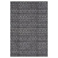 Feizy Settat Ikat 5-Foot x 8-Foot Area Rug in Black/Dark Grey