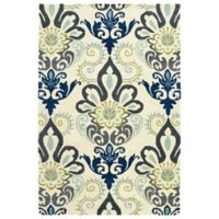 Kaleen Global Inspiration Regal 3-Foot 6-Inch x 5-Foot 6-Inch Area Rug in Blue
