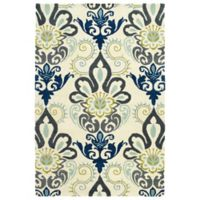 Kaleen Global Inspiration Regal 9-Foot x 12-Foot Area Rug in Blue
