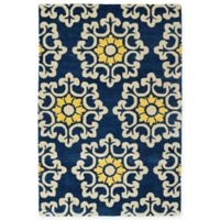 Kaleen Global Inspiration Stencil 5-Foot x 7-Foot 9-Inch Rug in Blue
