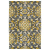 Kaleen Global Inspiration Vines 3-Foot 6-Inch x 5-Foot 6-Inch Area Rug in Grey/Gold