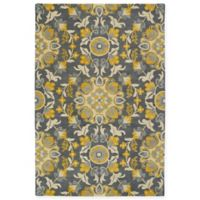 Kaleen Global Inspiration Vines 5-Foot x 7-Foot 9-Inch Area Rug in Grey/Gold