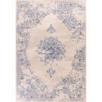 KAS Bob Mackie 3-Foot 3-Inch x 4-Foot 11-Inch Vintage Medallion Accent Rug in Sky Blue