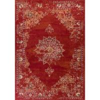 KAS Bob Mackie 3-Foot 3-Inch x 4-Foot 11-Inch Vintage Medallion Accent Rug in Burnt Red